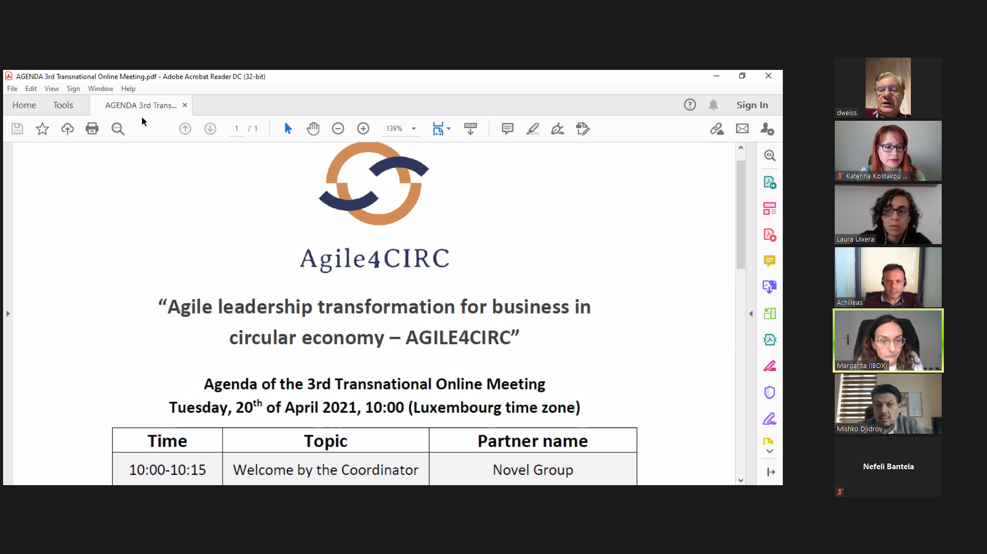 Third transnational meeting for the partners of the Agile4CIRC project!